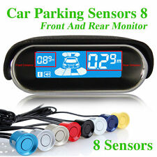 Car Reverse Parking Sensors Backup Radar 8 Sensors LED Display Kits Sound Alert
