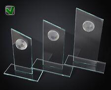 3er Fussball Glaspokale Serie Fussball Pokale Glas mit Gravur TOP Preis & Design