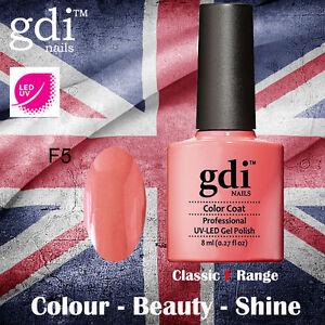 UK SELLER Gdi Nails CLASSIC Range F05 UV/LED Gel Soak Off nail polish
