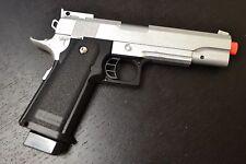 G6 Airsoft Spring Pistol Colt 1911 Replica Metal Gun FPS M9 Silver Free 2000 BBs