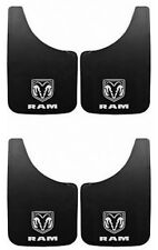 4PC Dodge RAM White Logo 9X15 Mud Flaps Splash Guard Car Truck New Free Shipping