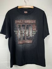 Harley Davidson 110th Anniversary T-shirt Large Flint Michigan Dealer