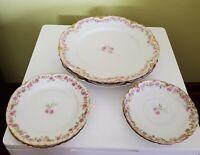 Haviland France Limoges 6 plates Pink Roses 1876-1931