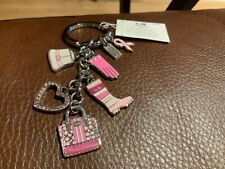 NWT COACH Breast Cancer Awareness Mix Keyfob/Keychain/KEYRING/Charm #62716