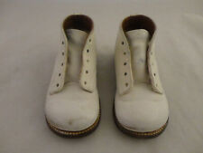 Vintage American Juniors Boys White Leather Toddler Boots/Shoes Size 4 (823)