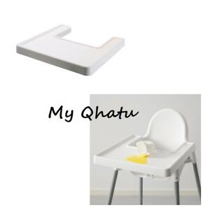 IKEA High Chair Antilop Tray Raised Edges  Baby WHITE NEW (Chair not included)