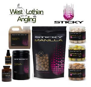 Sticky Baits Manilla Bait Range Boilies Pop Ups Pellet Liquids *PAY 1 POST*