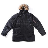 Air Force N3B Flight Cotton Jacket Mens Winter Jacket Parka Military Hooded Coat