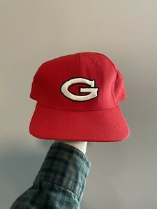 Vintage 80s University of Georgia Bulldogs New Era Snapback Hat Made in USA