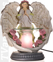 TVaromatics White Angel Polyresin Electric Aroma Lamp Oil and Wax Tart Warmer