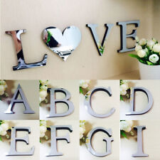 Acrylic Mirror 26 Letter Creative Wall Sticker Home Decoration Wall Art Mural