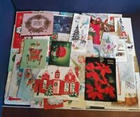 Vintage Greeting Card Lot of 85+ Christmas Card 1940's-1960's Paper Ephemera