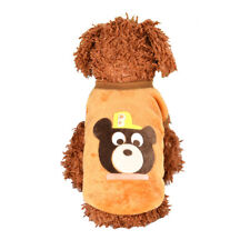 XXS Brown Bear Puppy Winter Warm Sweater Pet Clothes Teacup Baby Dogs Clothing