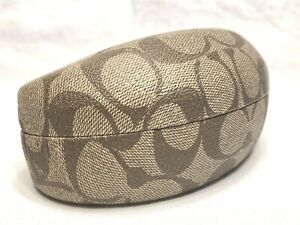 Large Authentic Coach Hard Side Clamshell Eyeglasses / Sunglasses Case