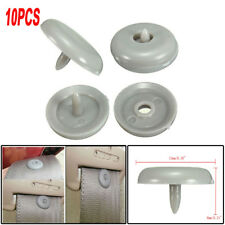 10Pcs Clips Seat Belt Stopper Buckle Button Fastener Safety Car Seat Part Gray