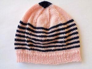 Babymütze, Wolle, Mütze gestrickt, Handarbeit, 35-40 cm