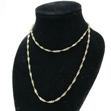 """.375 9ct YELLOW GOLD Fully Hallmarked Ladies Twisted Necklace 18"""" 1.7g - 232"""