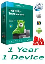 KASPERSKY TOTAL SECURITY 2020 1 PC 1 Year free shipping worldwide GLOBAL KEY