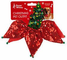Christmas Sequin Pet Collar Scrunchie with Jingle Bell One Size Fits All Dog Cat