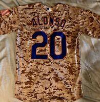 Pete Alonso #20 New York Mets Camo Stylish Jersey Small Majestic Military