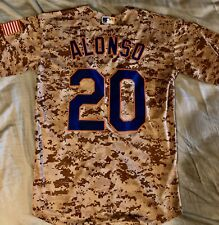 Pete Alonso #20 New York Mets Camo Stylish Jersey Small Majestic Military