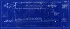 "Cunard White Star Liner MV Britannic 1929 Blueprint Ships Plan 12"" x 29"""