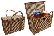 Deluxe Christmas Hamper Food Basket Eco Bamboo Strong Natural Gift Bottle Bag