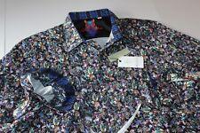 Robert Graham Shirt Nessie RF151039CF Blue Classic Fit LS New XX-Large 2XL
