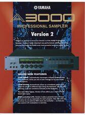 """Vintage Ad Sales Brochure: Yamaha """"A3000 Professional Sampler - Version 2"""""""