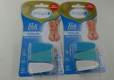 Amope Pedi Perfect Replacement Nail Care Heads, 3-Count LOT of 2 Free Shipping