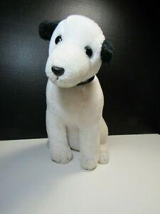 "12"" Vintage JSI RCA Victor Nipper Plush White Puppy Dog Stuffed Animal VGUC"
