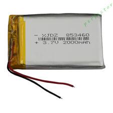 3.7V 2000 mAh Polymer Li ion Battery Lipo For PDA GPS DVD ipod Tablet PC 853460