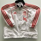 Liverpool FC Kids 4-5 Yrs Full Zip White Adidas Football Jacket Great Condition