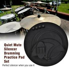10pcs Mute Silencer Drumming Practice Pad Bass Snare Drums Sound Off / Quiet USA