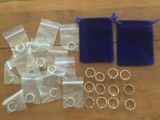 Silver Knuckle Rings Costume Jewelry 24 ring - 2 sizes (12 small, 12 large) NEW!