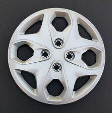 """One New AM Wheel Cover Hubcap Replacement Fits 2011-2016 Ford Fiesta 15"""" Silver"""