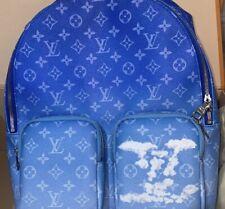 Original Monograma Louis Vuitton 2020 Azul Nuvem Virgil Coleção Mochila