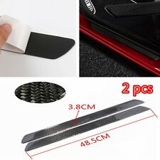 Car Scuff Plate Door Sill Cover Panel Step Protector Guard 49CM Carbon Fiber 2pc