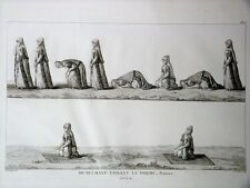 GRAVURE ORIGINALE Musulmans Prière NAMAZ Tableau Général EMPIRE OTTOMAN 1787