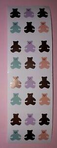 🦁💜Mrs Grossman's 1 Streifen = 4 Abrisse Mini Bären Scrapbooking Sticker 💜🦁
