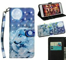 Wolf Forest Flip Case Wallet Stand Cover For Sony Xperia Experia XA1 Ultra
