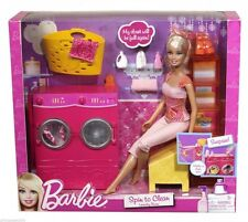 Barbie Estate Spin to Clean Laundry Room and Doll  New & Sealed