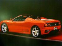 Red Ferrari 360 Modena Spider Sports Racing Car Wall Decor Art Print (16x20)