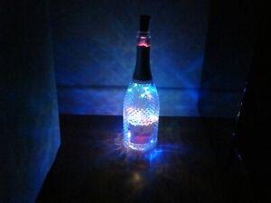 Decorative Freixenet Italian Rose Wine Bottle - Empty with LED lights