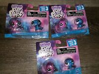 LITTLEST PET SHOP ~ Series-3 Figures Mini Fish Hasbro Toy ~ Lot of 3