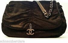 Chanel Black Sharpei Pony Hair Shoulder Bag