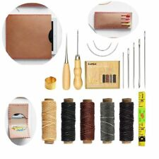 15 Pieces Leather Craft Hand Stitching Tools Needles for DIY Sewing Tool Sets