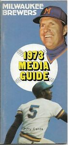 1973 MILWAUKEE BREWERS MLB MEDIA GUIDE VINTAGE FREE SHIPPING
