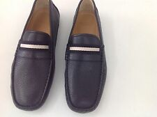 NEW IN ORIGINAL BOX BALLY SWITZERLAND DRIVERS GRAINED BROWN  SHOES SIZE US 8.