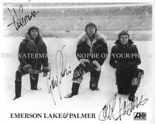 EMERSON LAKE AND PALMER BAND SIGNED AUTOGRAPHED 8x10 RP PHOTO CLASSIC ROCK